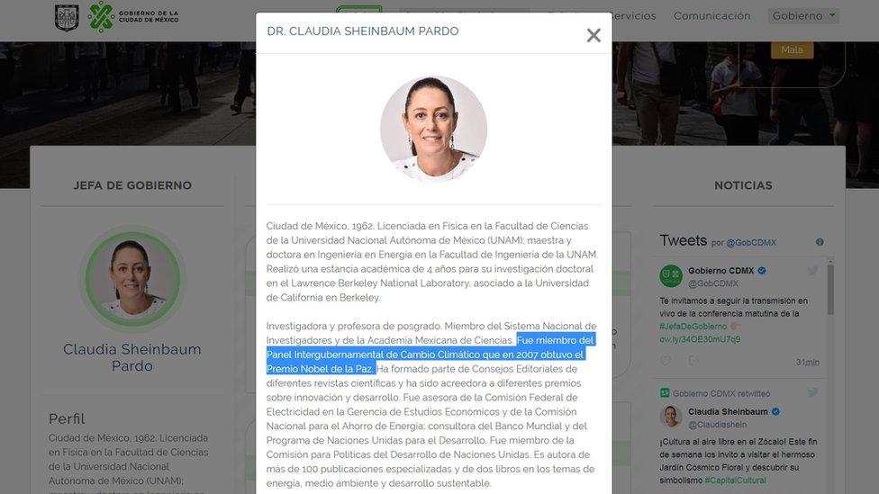 Biografía de Claudia Sheinbaum