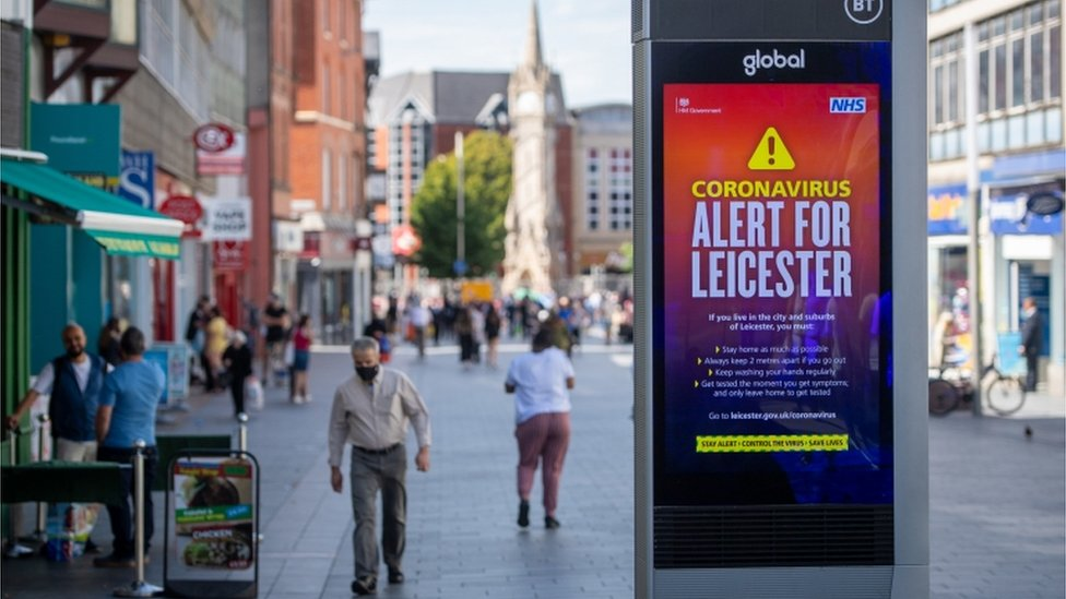 Leicester city centre 30 July 2020