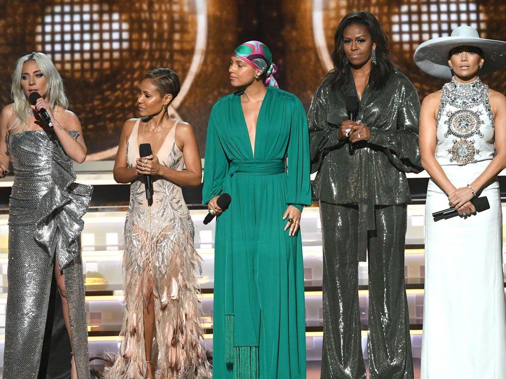 Lady Gaga, Jada Pinkett Smith, Alicia Keys, Michelle Obama and Jennifer Lopez
