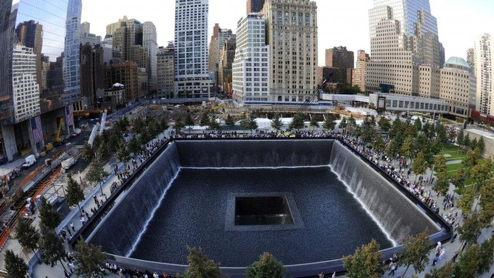 紐約世貿大廈原址的紀念公園