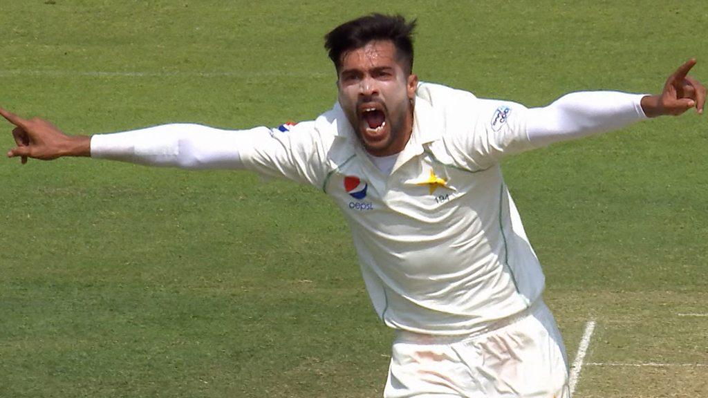 England v Pakistan: Mohammad Amir bowls Jonny Bairstow as England toil