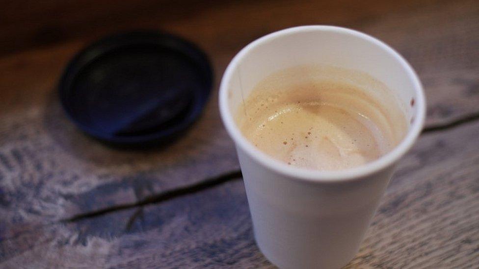 Single-use plastic cups