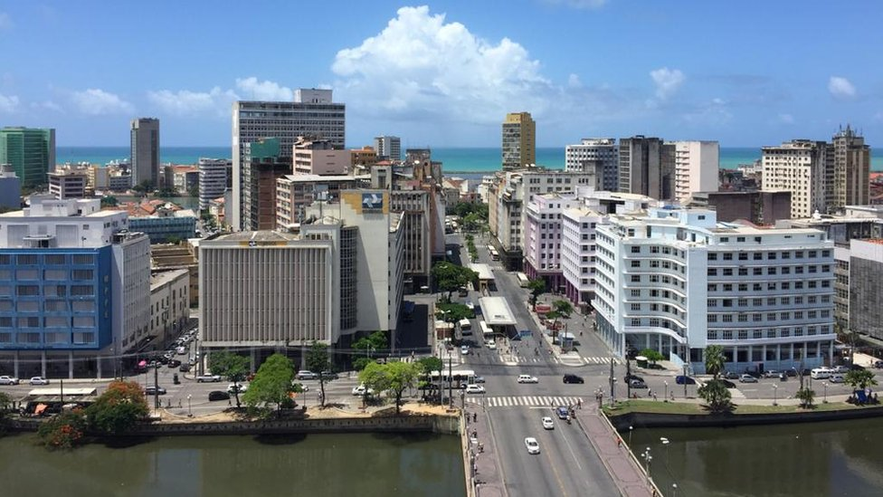 Imagem aérea do centro Recife