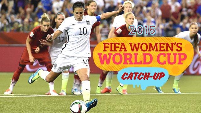 Women's World Cup Catch-Up: USA reach final, England hope for final