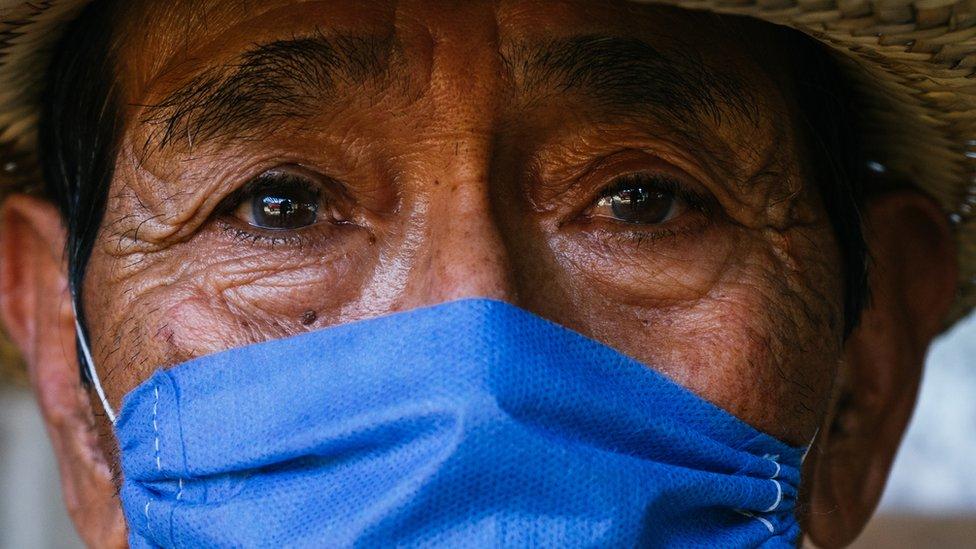 Hombre de una comunidad indígena de México