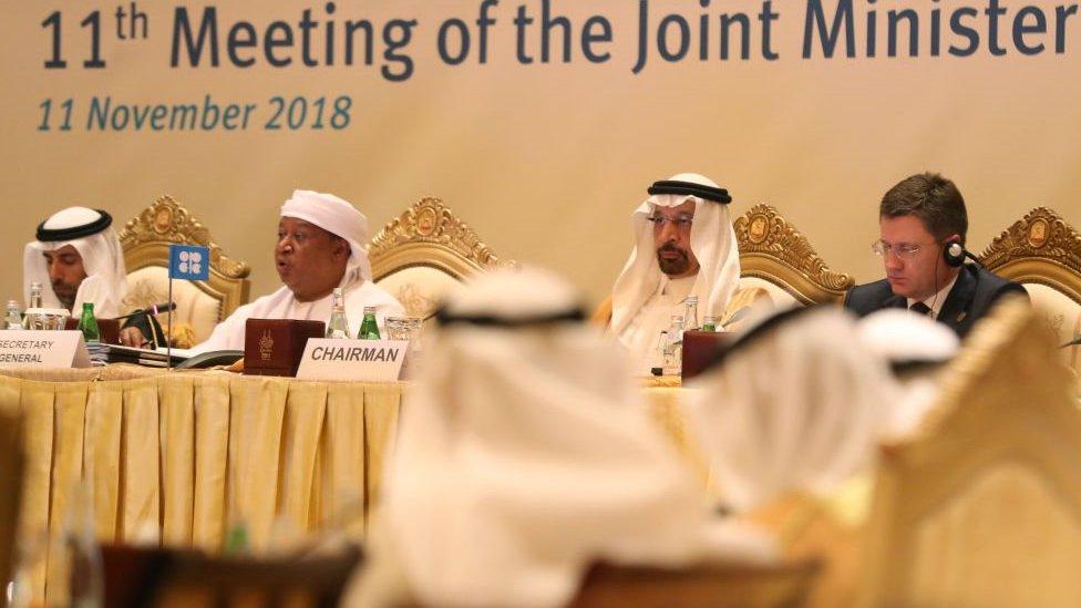 اجتماع لجنة المتابعة الوزارية المشتركة في العاصمة الإماراتية أبوظبي في 11 نوفمبر/تشرين الثاني 2018
