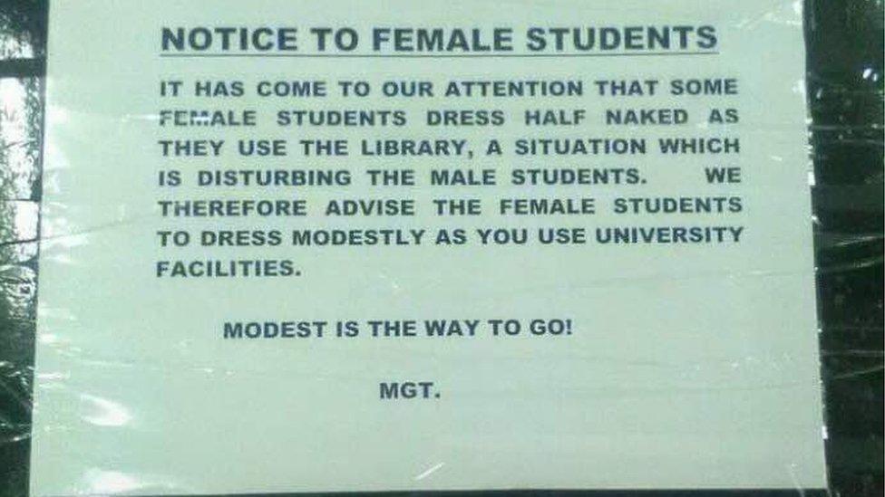 Zambia Library Warns Half Naked Female Students Bbc News