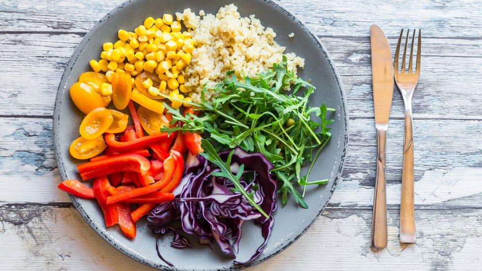 Prato de vegetais