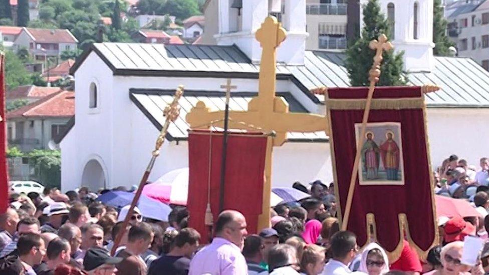 U Podgorici je održan skup protiv predloga zakona o verskim zajednicama