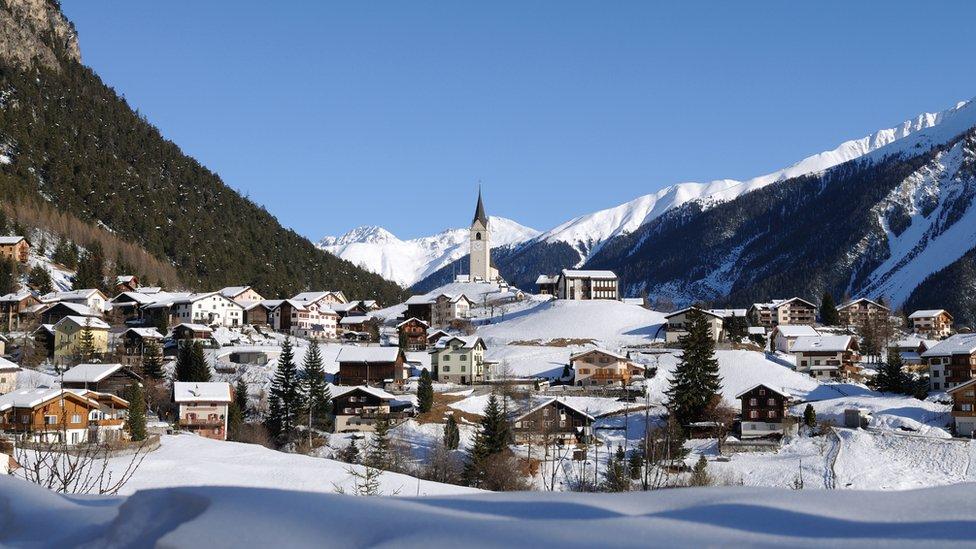 Vista de Davos, Suiza