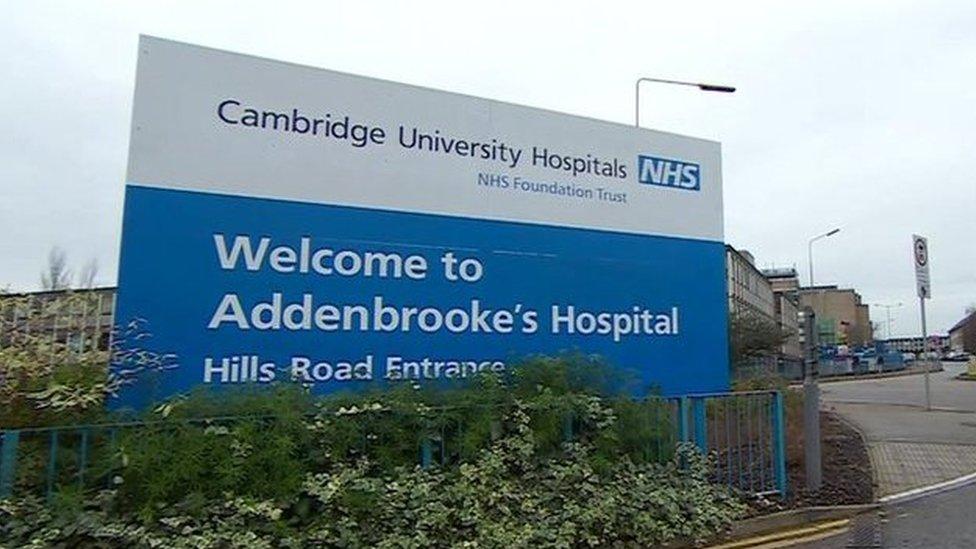 Addenbrooke's hospital sign