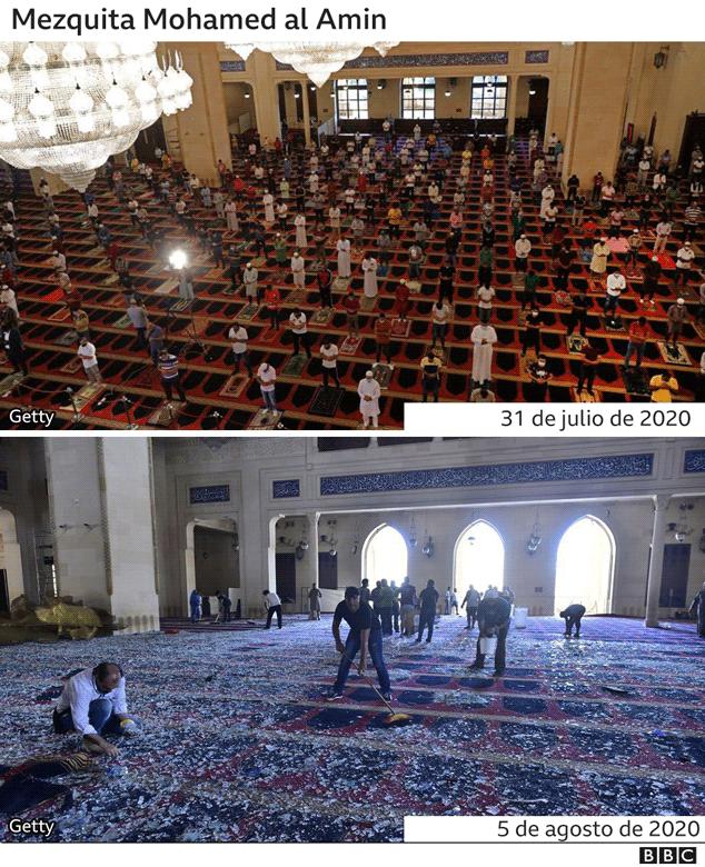 Mezquita dañada