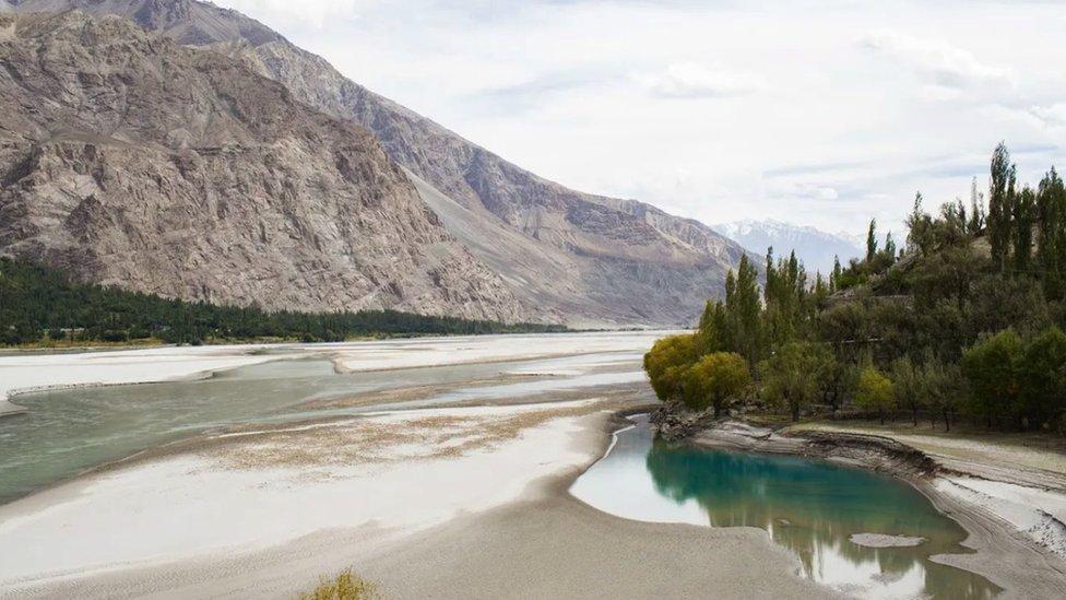 The Shyok river