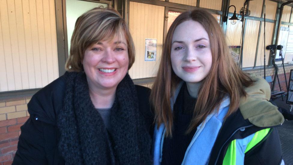 Pauline McLean and Karen Gillan