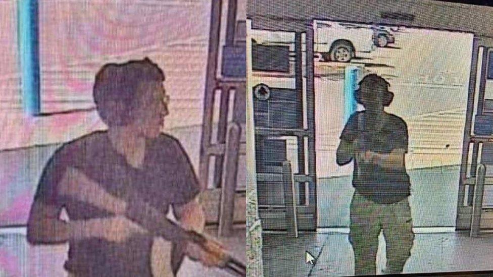 CCTV footage said to be of El Paso gunman