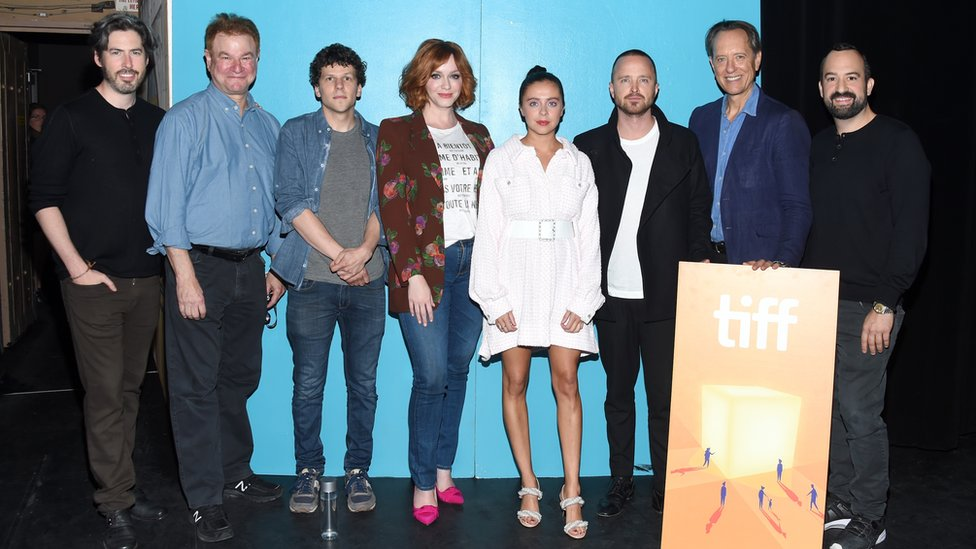 Jason Reitman (left) with his Live Read cast