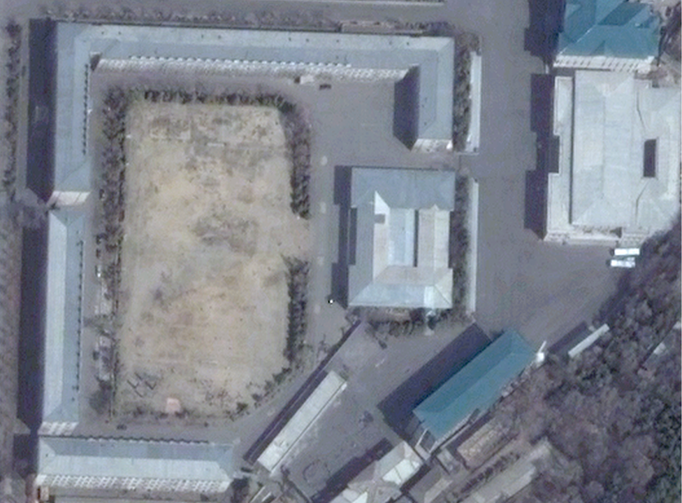 Satellite picture of the Guard Command headquarters in Pyongyang, taken in 2012