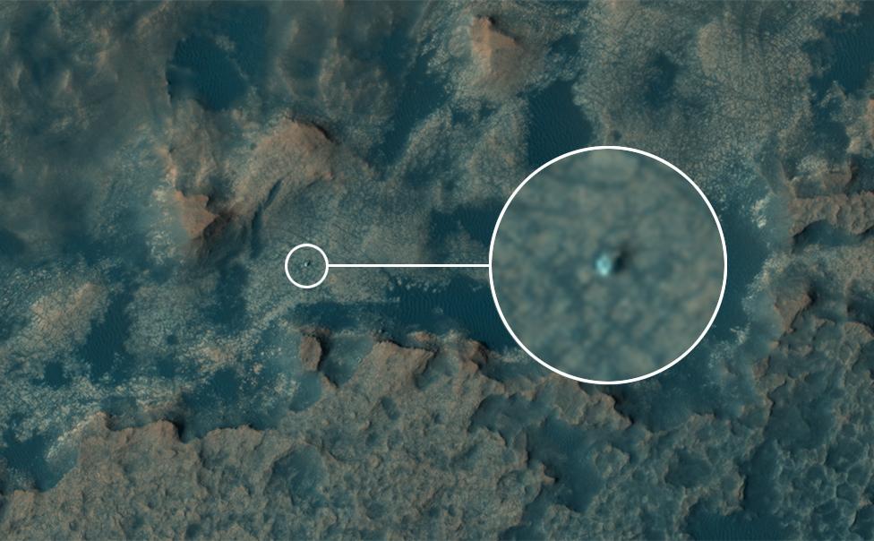 Una foto desde el espacio de Curiosity