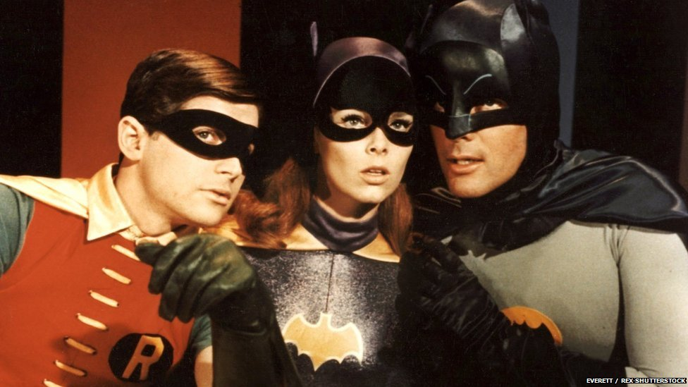 Burt Ward, Yvette Craig and Adam West in Batman