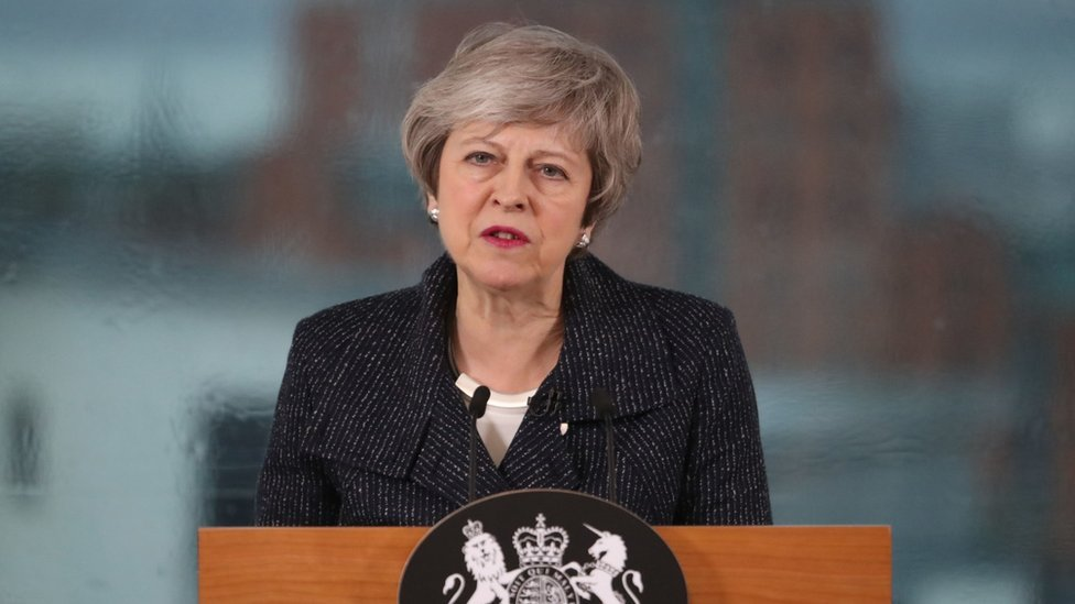 Theresa May has said she wants changes to the controversial backstop