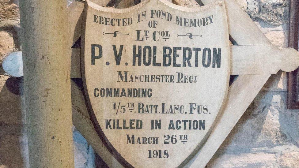 Cross for Lt Col Philip Vaughan Holberton,