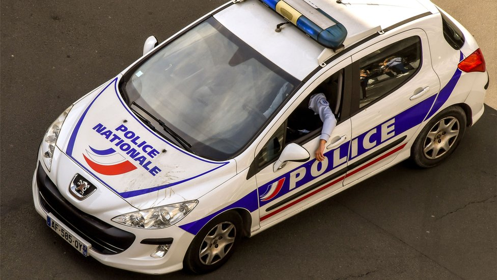 File pic of French police car