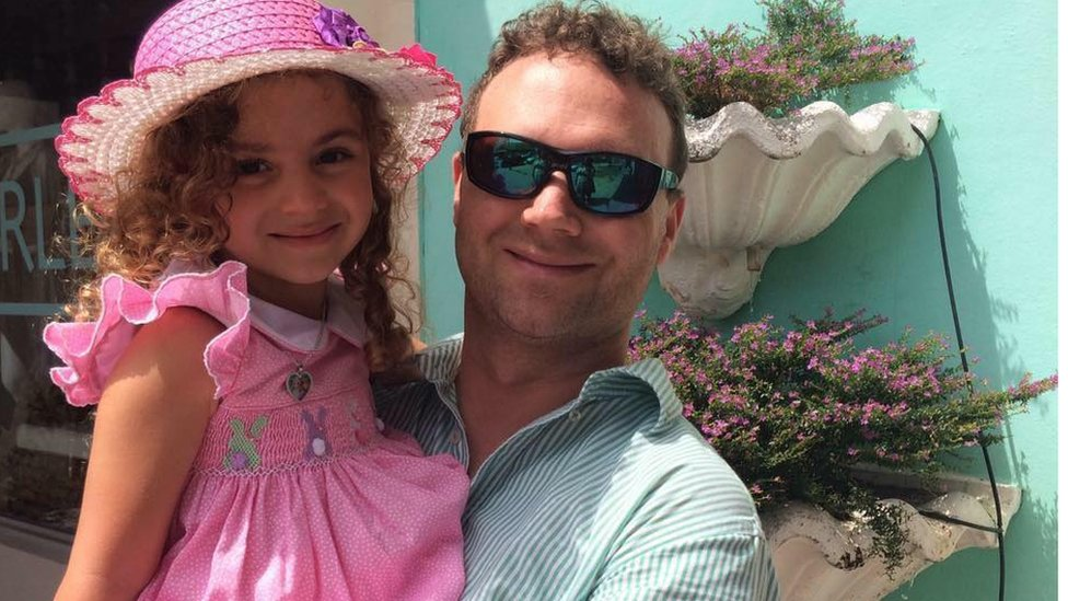Theo Purington and his seven-year-old daughter Sienna