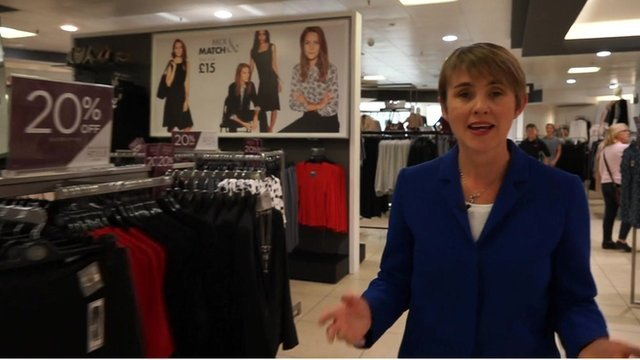 Emma Simpson at BHS store, London