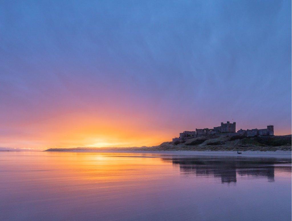 Dawn at Bamburgh Castle, Northumberland