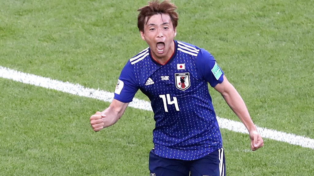 World Cup 2018: Takashi Inui equalises for Japan against Senegal in Group H