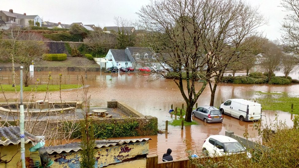 David Clinch tweeted a picture of flooding near his home Pembroke