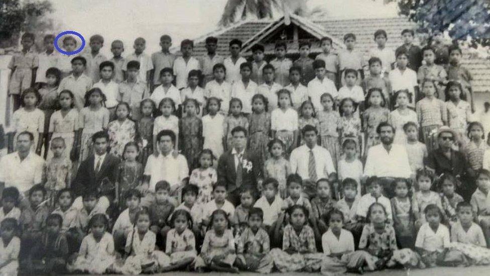 Annadurai ketika berumur 9 tahun di sekolah