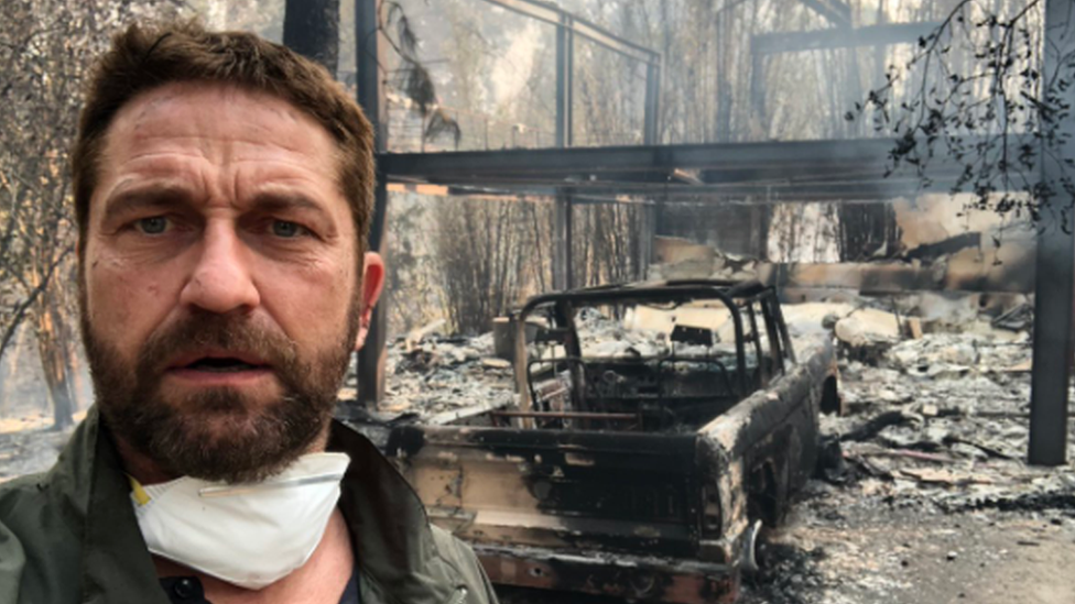 Actor Gerard Butler's home destroyed by California wildfire