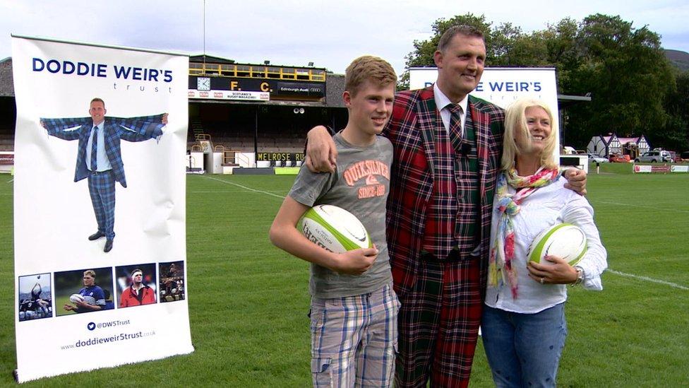 Doddie Weir and family