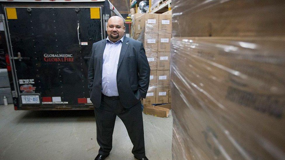 Rahul Singh, creator of GlobalMedic, at their facility