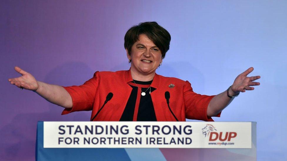 Arlene Foster, líder del Partido Unionista Democrático