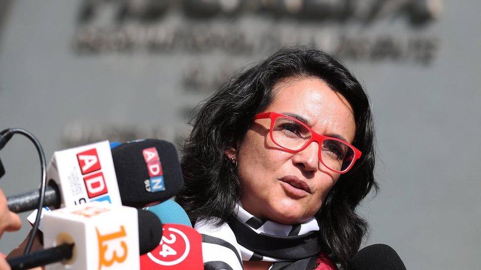 La fiscal a cargo de la investigación, Mitzy Henríquez.