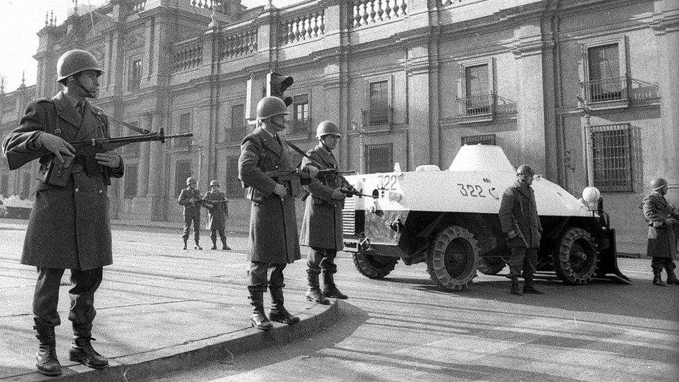 Militares durante el golpe de 1973.