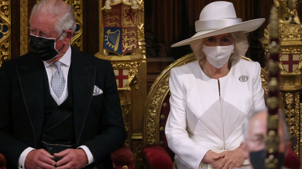 Charles and Camilla during the State Opening of Parliament