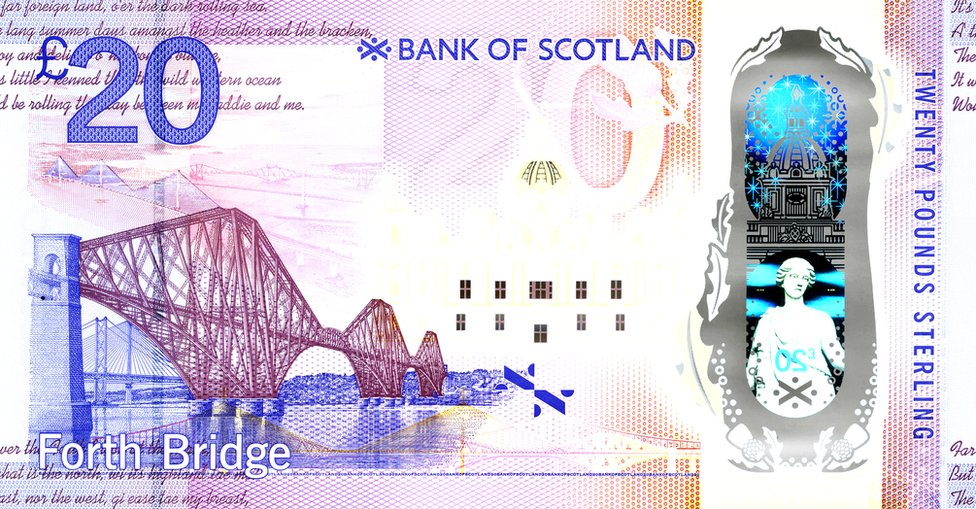 The back of the new £20 note