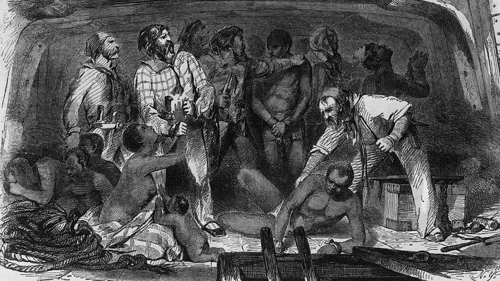 Crtež iz 18. veka koji prikazuje ropstvo