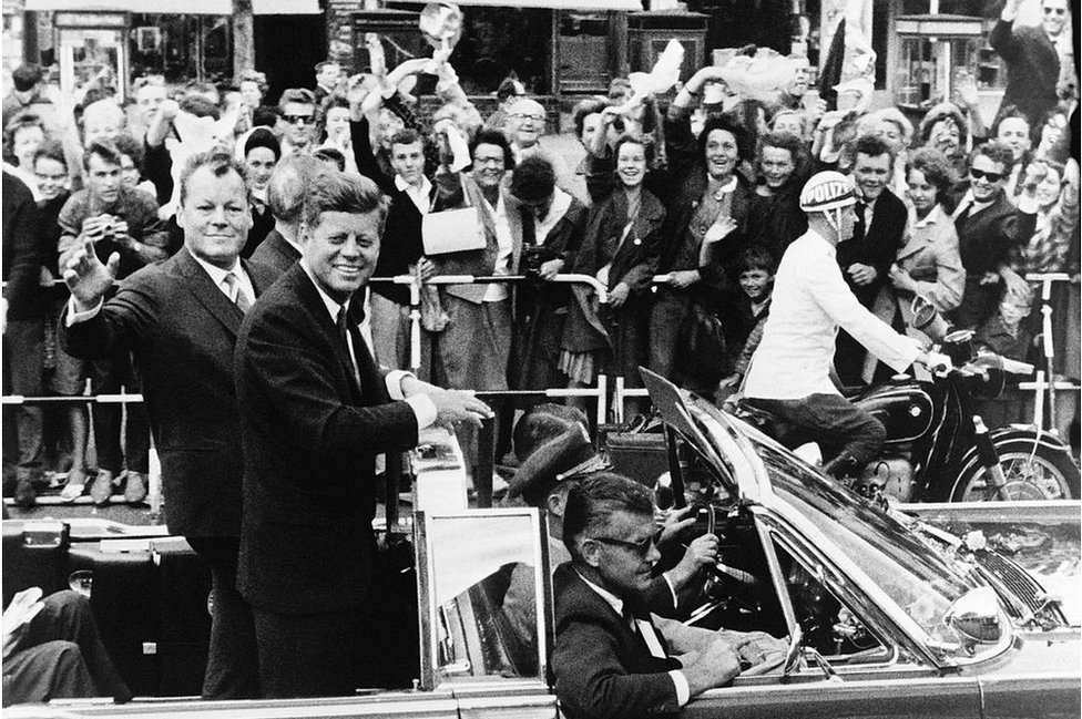 President Kennedy during his 1963 trip to Berlin