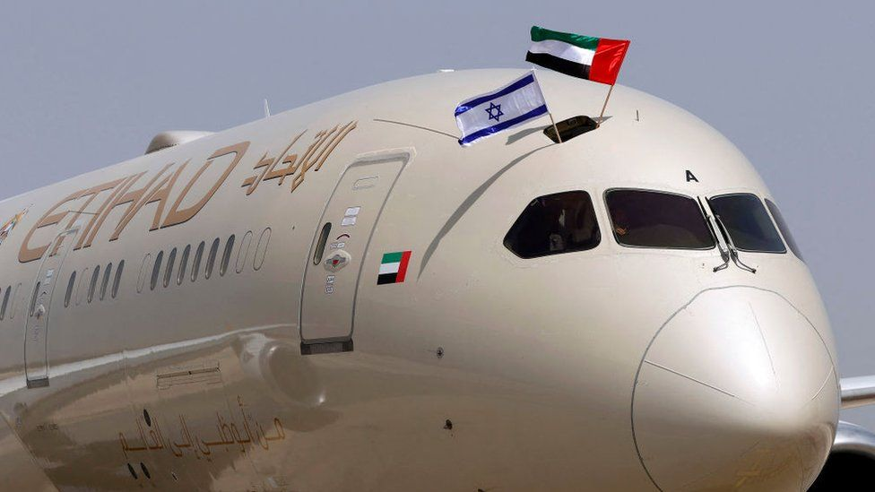 Avión de Etihad.