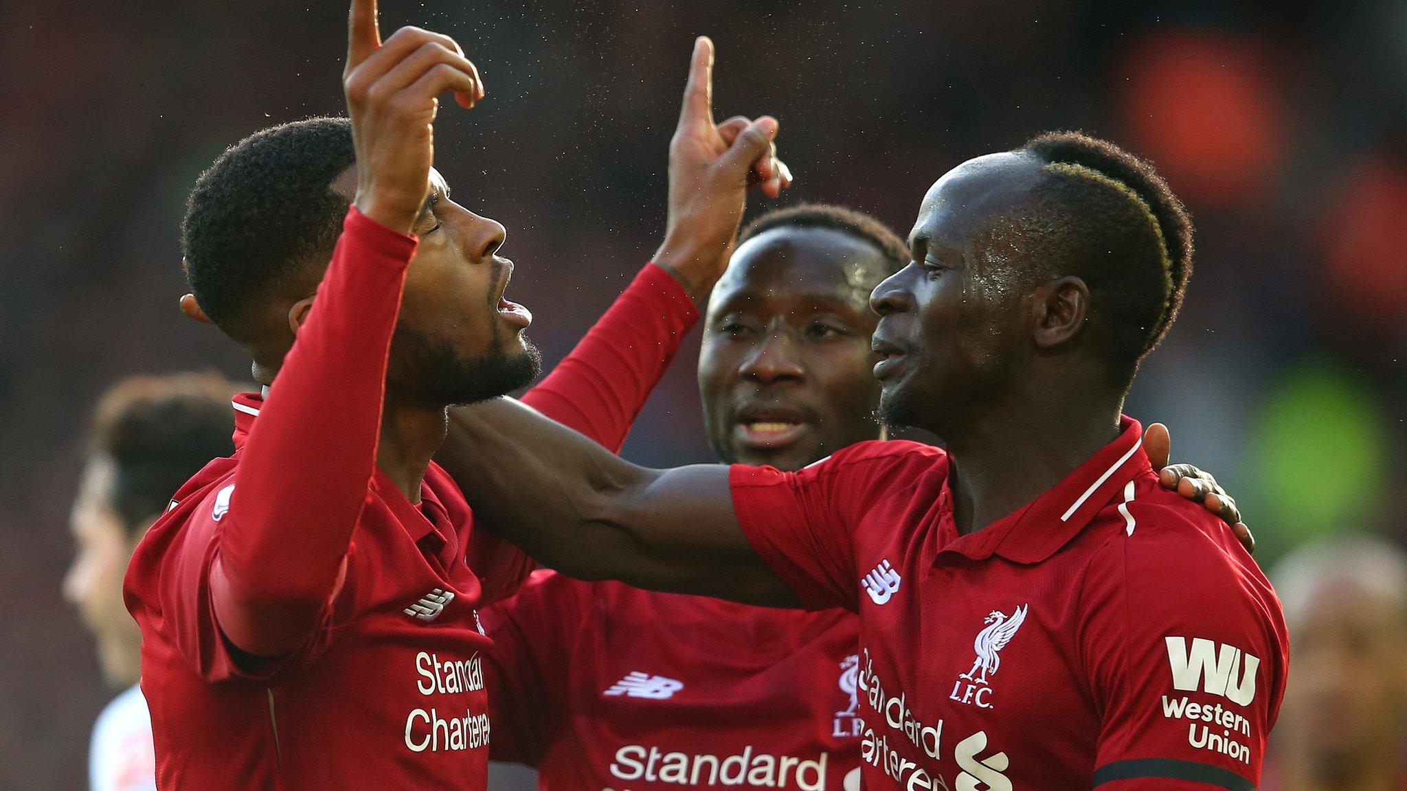 Liverpool 3-0 Bournemouth: Salah scores again as Reds regain Premier League lead