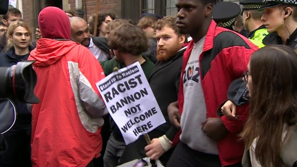 Steve Bannon protest