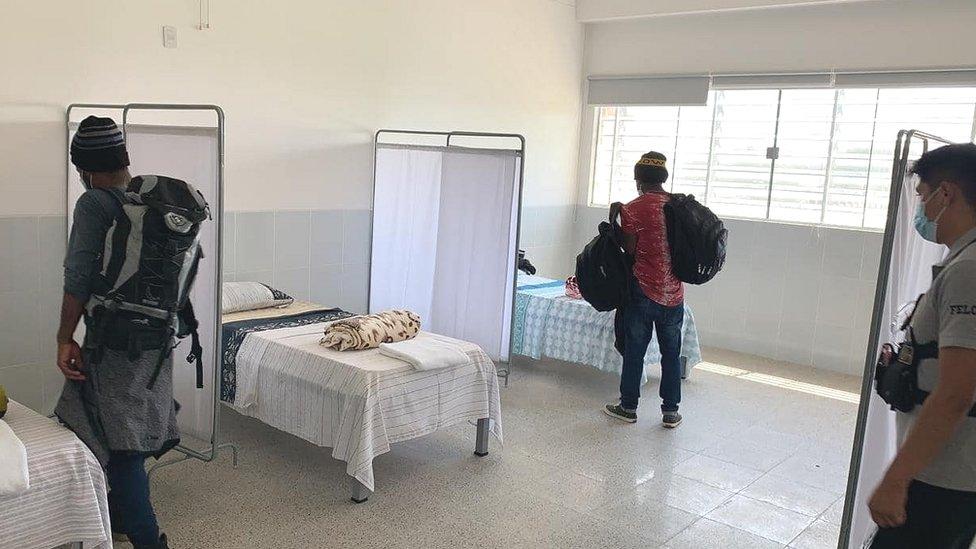 Haitianos en cuartos