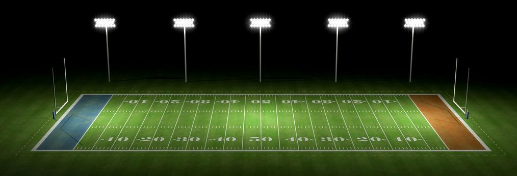 Un campo de fútbol americano