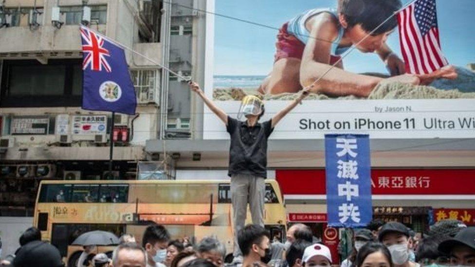 pengunjuk rasa Hong Kong
