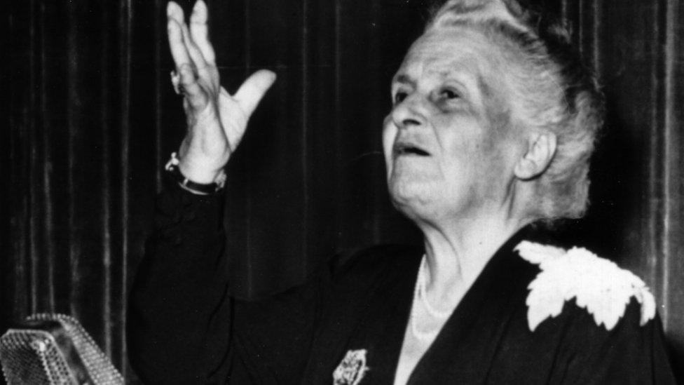Maria Montessori in 1949