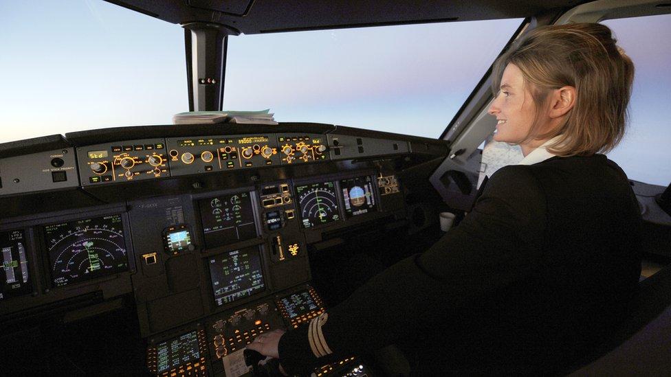 Mujer piloto de Air France